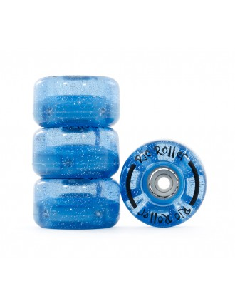 Kółka Rio Roller Light Up Wheels Blue Glitter