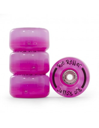 Rio Roller Light Up Wheels Pink Frost